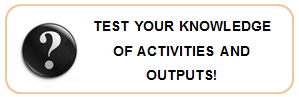 Test your knowledge of Activities and Outputs