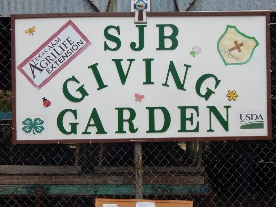 The St. John Berchman's garden sign